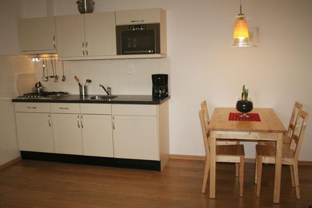 De keuken van de vakantie appartementen in limburg