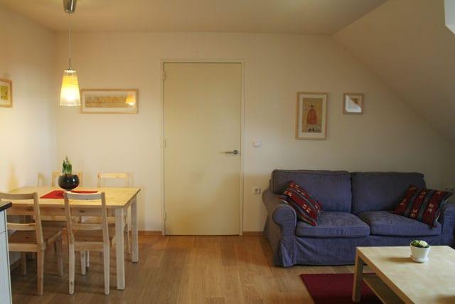 De eethoek van de vakantie appartementen in limburg