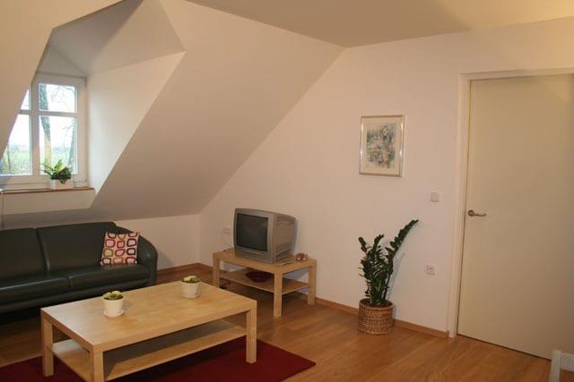 De woonkamer van de vakantie appartementen in limburg