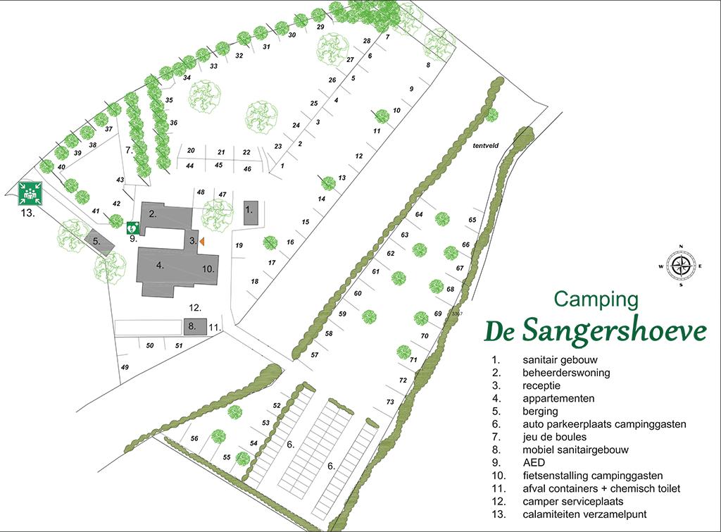 Minicamping in Limburg de Sangershoeve